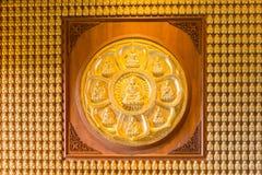 Thousand golden buddha sculpture Stock Photos