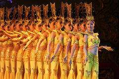 Thousand Hand Dance in China Royalty Free Stock Photography