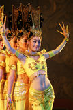 Thousand Hand Dance in China Stock Photography
