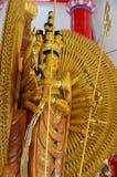 Thousand-Hand Quan Yin Bodhisattva. Statue of Thousand-Hand Quan Yin Bodhisattva in Thailand Stock Photography