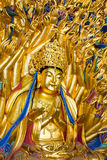 Thousand Hands Buddha statue at Bao Ding, Dazu Rock Carvings Royalty Free Stock Image