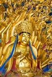 Thousand Hands Buddha statue at Bao Ding, Dazu Rock Carvings. In Chongqing, China Royalty Free Stock Image