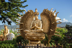 Thousand hands Buddha statue at the Ten Thousand Buddhas Monastery Stock Images