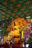 Thousand hands Guan Yim buddha Stock Image