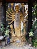 Thousand hands guan yin statue stock photo