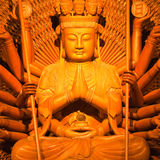 Thousand Hands Of God Wood Carving Stock Images