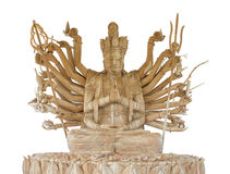 Thousand Hands Wooden Buddha Royalty Free Stock Images
