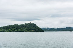 Thousand island lake scenery royalty free stock image