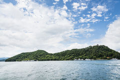 Thousand island lake scenery stock image
