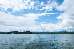 Thousand island lake scenery royalty free stock images