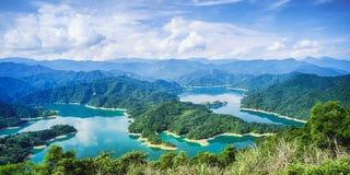 Thousand Island Lake from Shiding Crocodile Island at Feitsui Dam in Shiding District, New Taipei, Taiwan. Stock Photo