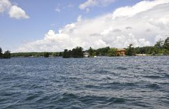 Thousand Islands Archipelago landscape from Ontario province in Canada royalty free stock photos