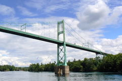 The thousand islands bridge, Canada Royalty Free Stock Photos