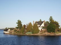 Thousand Islands and Kingston in Ontario, Canada. Thousand Islands National Park Ontario Canada near Kingston across from New York State, St, Lawrence river Stock Photography