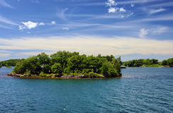 Thousand Islands National Park Ontario Canada near Kingston. Across from New York State, St,  Lawrence river Royalty Free Stock Photo