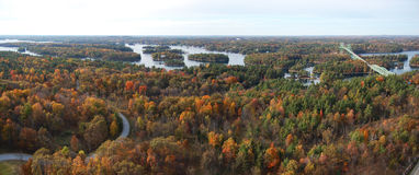 Thousand Islands panorama, USA Royalty Free Stock Images