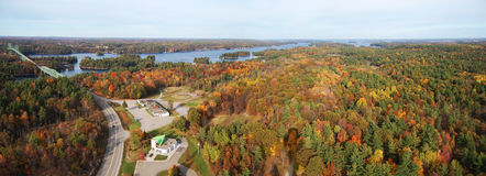 Thousand Islands panorama Stock Images