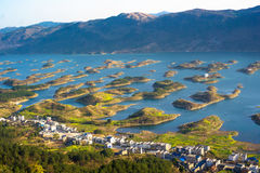 Thousand Islet Lake. Tourist attractions in China,Thousand Islet Lake royalty free stock image