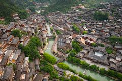 Thousand miao village. In guizhou china royalty free stock photography