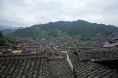 Thousand miao village. In guizhou china stock photo
