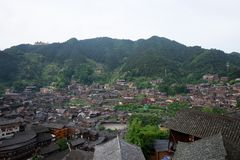 Thousand miao village. In guizhou china royalty free stock image