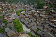 Thousand miao village. In guizhou china stock images