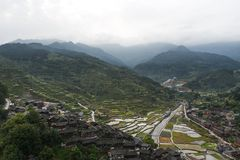Thousand miao village. In guizhou china stock photography