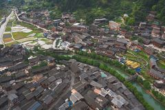 Thousand miao village. In guizhou china stock image