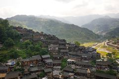 Thousand miao village. In guizhou china stock photos