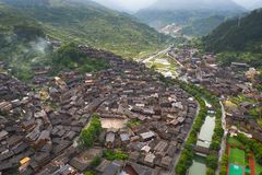 Thousand miao village. In guizhou china royalty free stock photo