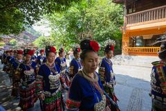 Free Thousand Miao Village Is A Famous Old Place In Guizhou China,a Lot Of Peoples Come Here Everyday Stock Photos - 150781323