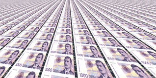 Thousand Norwegian kroner bills Stock Image