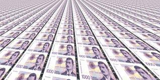 Thousand Norwegian kroner bills stock image