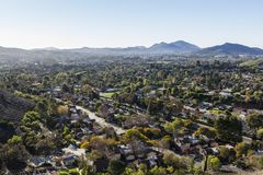 Thousand Oaks California Hilltop View Royalty Free Stock Photography