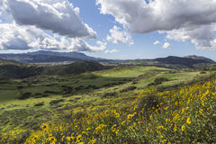 Thousand Oaks California. View towards Newbury Park from Wildwood Park in the Los Angeles suburb of Thousand Oaks, California Stock Image