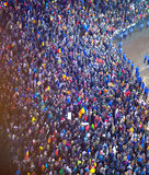 Thousand people marched through the Romanian capital on Wednesday night to protest the government`s plan to pardon thousands of pr. Isoner, Bucharest, Romania Royalty Free Stock Photos
