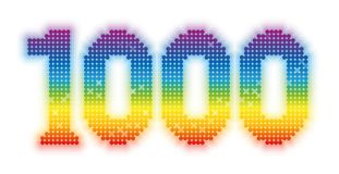 Thousand Rainbow Colored Glossy Shimmering Gleaming. THOUSAND - exactly one thousand counted rainbow colored glossy, shimmering, gleaming platelets stock illustration
