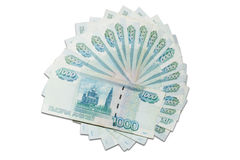 Thousand rubles banknotes Royalty Free Stock Photography