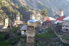 Thousand shades of Adishi. This pictures were made during 24 hours in Adishi Village. Kind of abandoned village in Svaneti Georgia where only 10 families are stock images