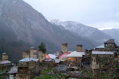Thousand shades of Adishi. This pictures were made during 24 hours in Adishi Village. Kind of abandoned village in Svaneti Georgia where only 10 families are royalty free stock image
