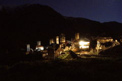 Thousand shades of Adishi. This pictures were made during 24 hours in Adishi Village. Kind of abandoned village in Svaneti Georgia where only 10 families are royalty free stock photography
