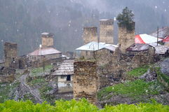 Thousand shades of Adishi. This pictures were made during 24 hours in Adishi Village. Kind of abandoned village in Svaneti Georgia where only 10 families are royalty free stock images
