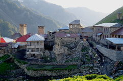 Thousand shades of Adishi. This pictures were made during 24 hours in Adishi Village. Kind of abandoned village in Svaneti Georgia where only 10 families are stock photo