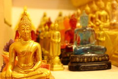 Thousand of small Buddha images in church Stock Photo