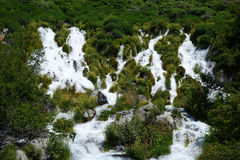 Thousand Springs - Idaho. Thousand Springs includes many waterfalls which emerge in Idaho`s Snake River Canyon near Hagerman Stock Images