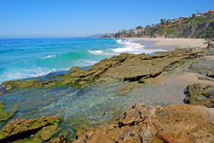 Thousand Steps Beach, South Laguna Beach, California. View of a beautiful beach and tide pool in South Laguna Beach, California. Called the Thousand Steps Beach Royalty Free Stock Photo