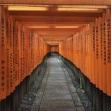 Thousand tori gates tunnel Royalty Free Stock Image