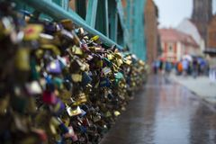 Thousands of colored padlocks Royalty Free Stock Photography