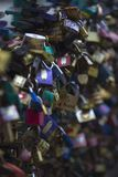 Thousands of colored padlocks Stock Images