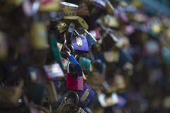 Thousands of colored padlocks Royalty Free Stock Photos